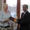 Dr.Svetlana Broz, presenting her book to Venkat Pulla